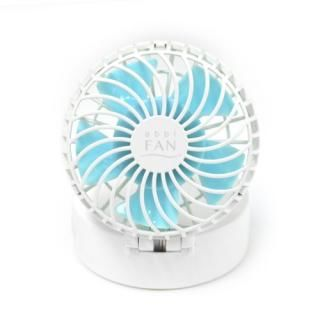 abbi Fan Mirror ハンズフリーポータブル扇風機ミラー付き ホワイト
