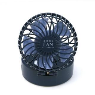 abbi Fan Mirror ハンズフリーポータブル扇風機ミラー付き ネイビー