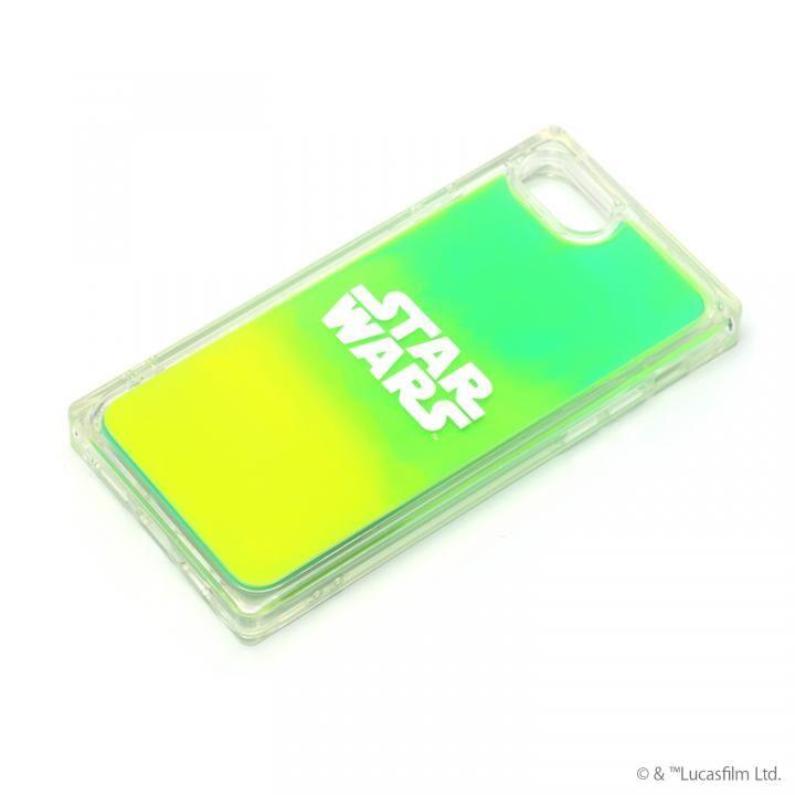 iPhone8/7 ケース ネオンサンドケース STAR WARS ロゴ/グリーン&イエロー iPhone SE 第2世代/8/7_0