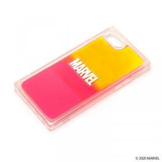 iPhone SE 第2世代 ケース ネオンサンドケース MARVEL ロゴ/イエロー&ピンク iPhone SE 第2世代/8/7【3月上旬】