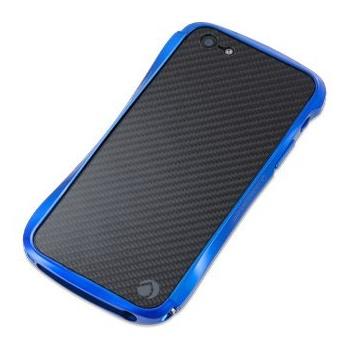 CLEAVE クリスタルバンパー  iPhone SE/5s/5 METALIC & CARBON Suzuka Blue