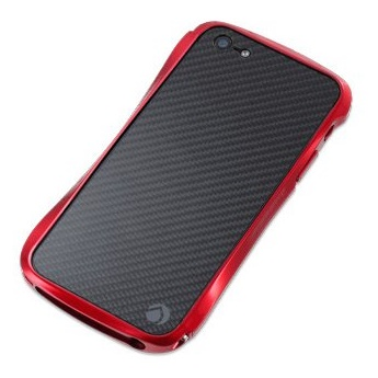 CLEAVE CRYSTAL BUMPERiPhone SE/5s/5 METALIC & CARBON RED