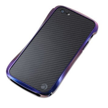 CLEAVE CRYSTAL バンパー iPhone SE/5s/5 メタリックカーボン Jewel Beetle