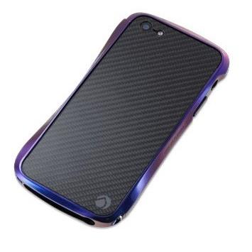 iPhone SE/5s/5 ケース CLEAVE CRYSTAL バンパー iPhone SE/5s/5 メタリックカーボン Jewel Beetle