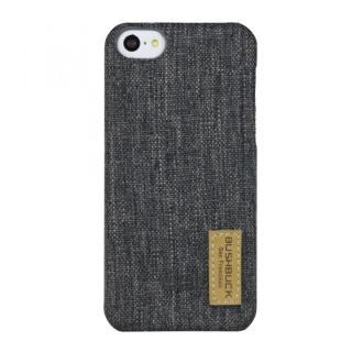 ハードシェル亜麻織物ケース Bushbuck グレー iPhone 5cケース