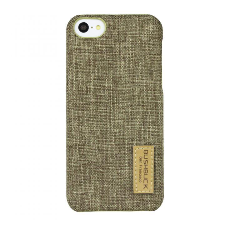 ハードシェル亜麻織物ケース Bushbuck ストロー iPhone 5cケース