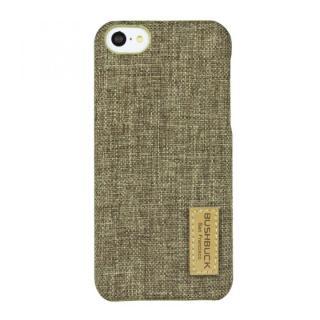 【その他のiPhone/iPodケース】ハードシェル亜麻織物ケース Bushbuck ストロー iPhone 5cケース