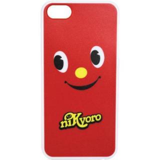 【iPhone SE/5s/5ケース】デザインケース にっきょろ赤 iPhone SE/5s/5ケース