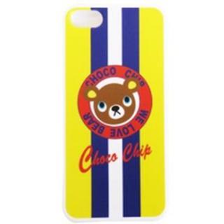 【iPhone SE/5s/5ケース】デザインケース チョコチップベアイエロー iPhone SE/5s/5ケース