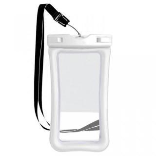 指紋認証対応 防水ポーチ ホワイト
