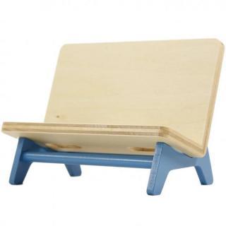 木製携帯スタンド ベンチ ライトブルー