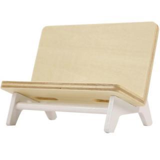 木製携帯スタンド ベンチ ホワイト