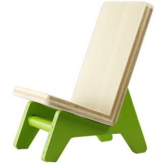 木製携帯スタンド イス ライトグリーン