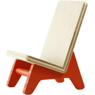 木製携帯スタンド イス オレンジ
