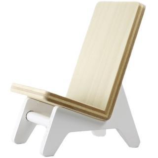 木製携帯スタンド イス ホワイト