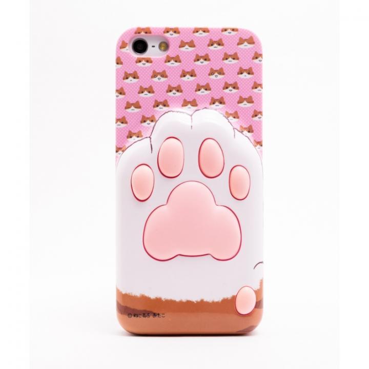 iPhone SE/5s/5 ケース にゃんこ iPhone5用ケース 肉球C(顔ピンク)_0