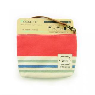 Pocketti スマホトート横/ハンプ スカーレット