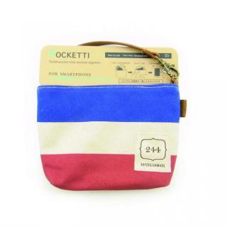 Pocketti スマホトート横/ハンプ トリコロール