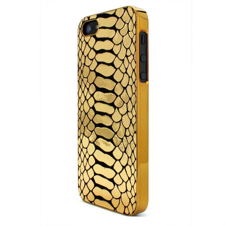 iPhone SE/5s/5 ケース GAZE Back Cover 蛇柄金 iPhone SE/5s/5ケース_0