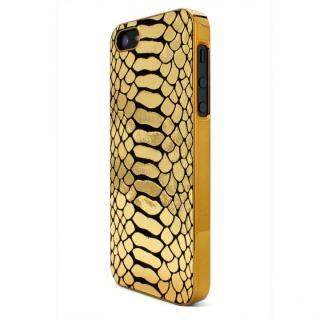 【iPhone SE/5s/5ケース】GAZE Back Cover 蛇柄金 iPhone SE/5s/5ケース