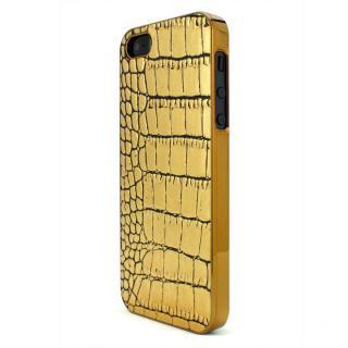 GAZE Back Cover クロコダイル柄金 iPhone SE/5s/5ケース