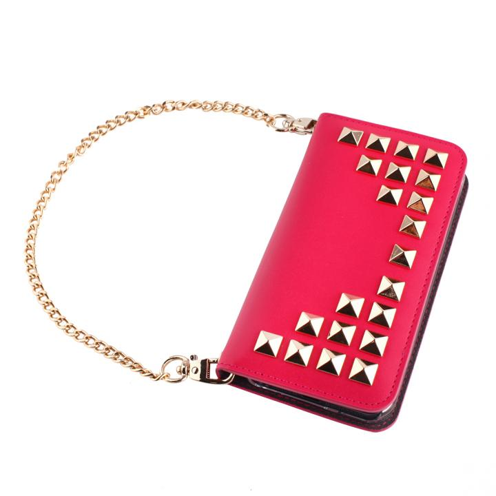 GAZE Glitter Diamond ピンク iPhone SE/5s/5 手帳型ケース