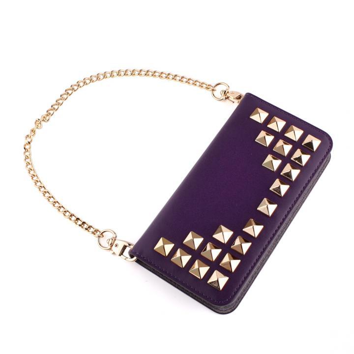 【iPhone SE/5s/5ケース】GAZE Glitter Diamond パープル iPhone SE/5s/5 手帳型ケース_0