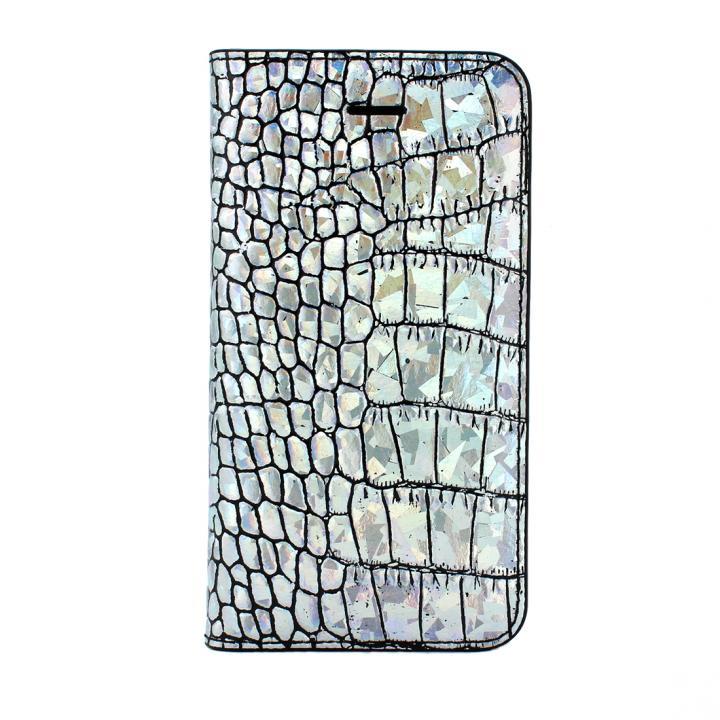 GAZE クロコダイル柄ホログラム iPhone SE/5s/5 手帳型ケース