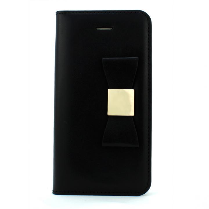 LAYBLOCK リボン Classic ブラック iPhone 5s/5 手帳型ケース 送料無料