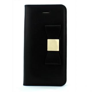 LAYBLOCK リボン Classic ブラック iPhone SE/5s/5 手帳型ケース