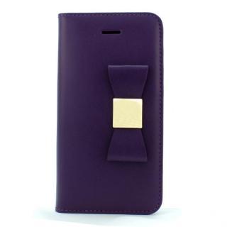 LAYBLOCK リボン Classic パープル iPhone SE/5s/5 手帳型ケース
