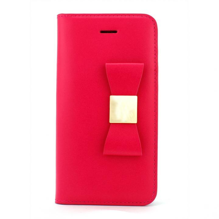 LAYBLOCK リボン Classic ホットピンク iPhone SE/5s/5 手帳型ケース