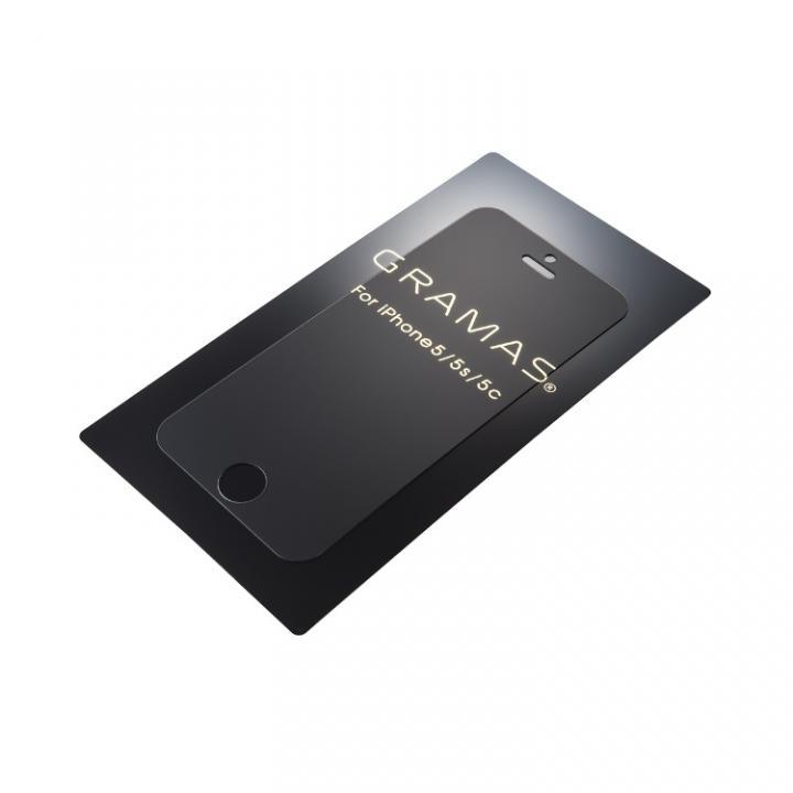 アンチグレア強化ガラス GRAMAS EXTRA iPhone 5s/5c/5