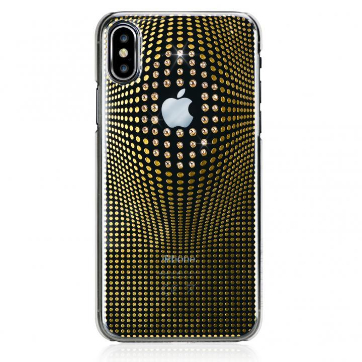 【iPhone XS/Xケース】Bling My Thing Warp Deluxe スワロフスキーケース ゴールド iPhone XS/X_0