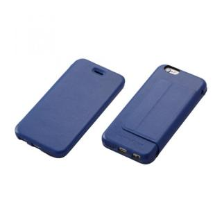 Deff 牛革手帳型ケース ブルー iPhone6 Plus
