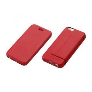 Deff 牛革手帳型ケース レッド iPhone 6 Plus