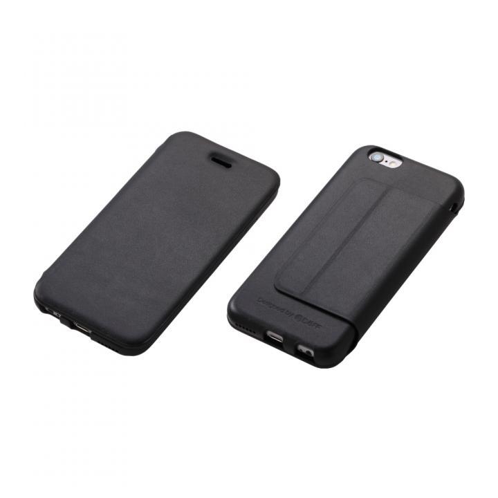 iPhone6 ケース Deff 牛革手帳型ケース ブラック iPhone 6 Plus_0