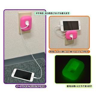 iPhone専用 充電器ホルダー パープル_3