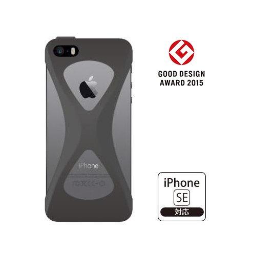 【iPhone SE/5s/5ケース】Palmo 落下防止シリコンケース ブラック iPhone SE/5s/5c/5_0