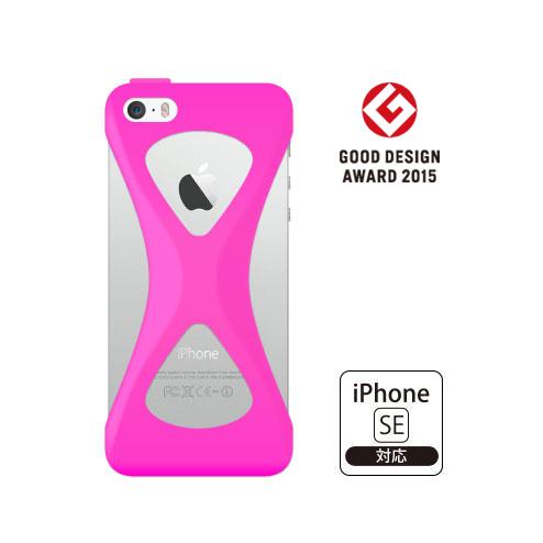 iPhone SE/5s/5 ケース Palmo 落下防止シリコンケース ピンク iPhone SE/5s/5c/5_0