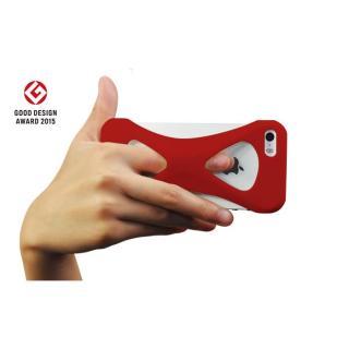 【iPhone SE/5s/5ケース】Palmo 落下防止シリコンケース レッド iPhone SE/5s/5c/5_1