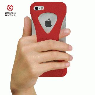 【iPhone SE/5s/5ケース】Palmo 落下防止シリコンケース レッド iPhone SE/5s/5c/5_2