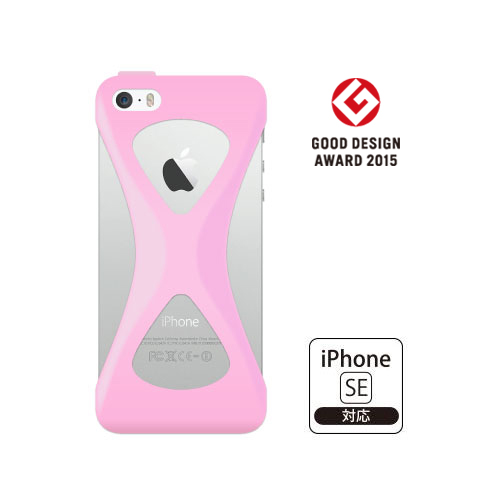 【iPhone SE/5s/5ケース】Palmo 落下防止シリコンケース ライトピンク iPhone SE/5s/5c/5_0
