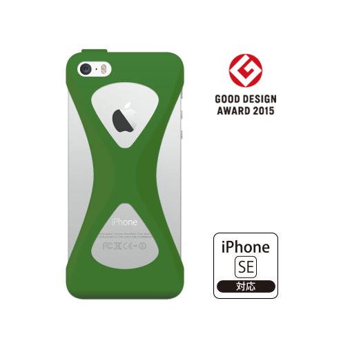 【iPhone SE/5s/5ケース】Palmo 落下防止シリコンケース グリーン iPhone SE/5s/5c/5_0