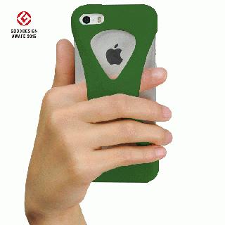 【iPhone SE/5s/5ケース】Palmo 落下防止シリコンケース グリーン iPhone SE/5s/5c/5_1