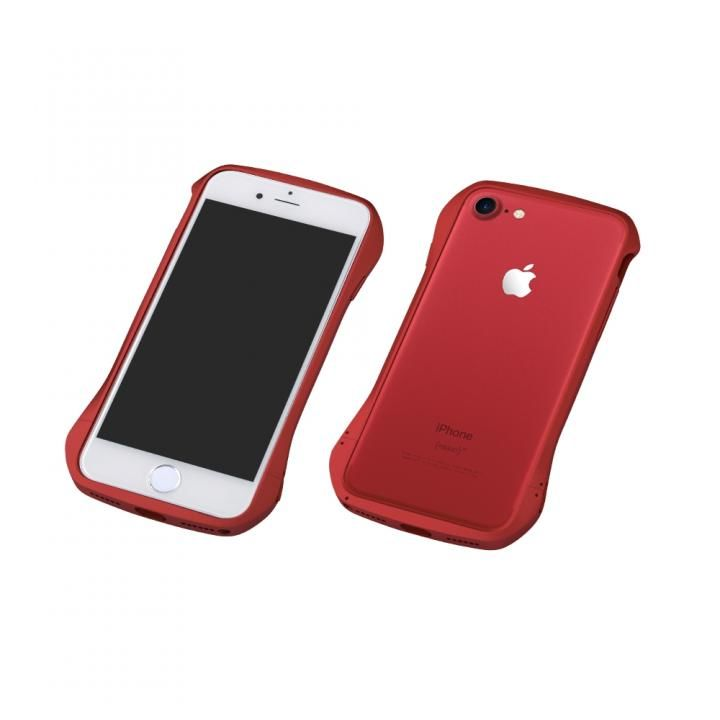 iPhone8/7 ケース Deff Cleave アルミバンパー レッド/レッド iPhone 8/7_0