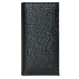 【iPhone SE ケース】CAMONE 松坂牛レザー手帳型ケース ブラック 4.7インチ汎用ケース