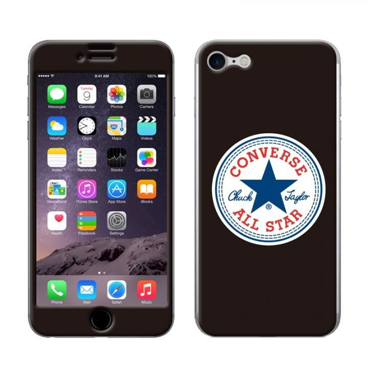 【iPhone8/7ケース】CONVERSE(コンバース) スキンシール BLACK iPhone 8/7_0