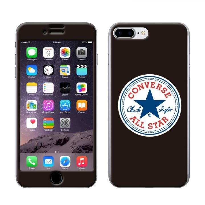b242997258 iPhone8 Plus/7 Plus ケース CONVERSE(コンバース) スキンシール BLACK iPhone 8 Plus ...