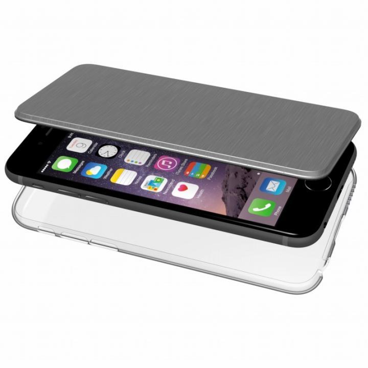 【iPhone6s/6ケース】エアージャケット 手帳型ケース グレー iPhone 6s/6_0